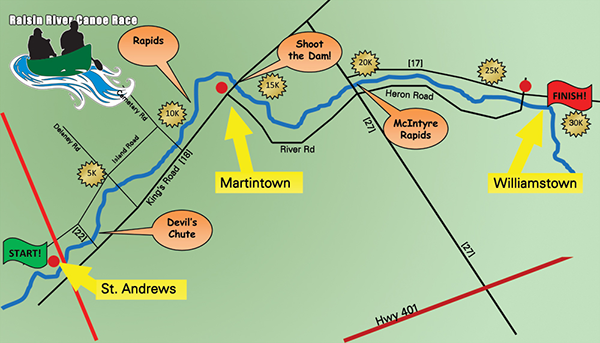 canoe race map