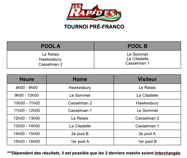 schedule of games