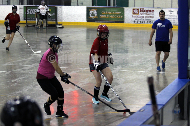 ball hockey action